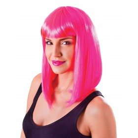 Chic Neon Pink Wig