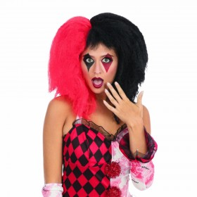Crazy Girl Red and Black Wig
