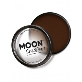Moon Creations Pro Face Paint Cake Pot Dark Brown
