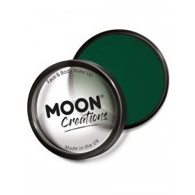 Moon Creations Pro Face Paint Cake Pot Dark Green