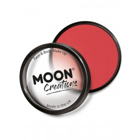 Moon Creations Pro Face Paint Cake Pot Bright Red
