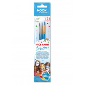 Moon Creations Face Paint Brushes Blue