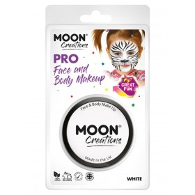 Moon Creations Pro Face Paint Cake Pot White