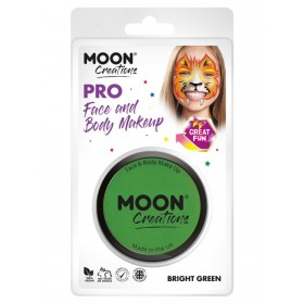 Moon Creations Pro Face Paint Cake Pot Bright Green