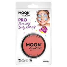 Moon Creations Pro Face Paint Cake Pot Coral