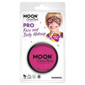 Moon Creations Pro Face Paint Cake Pot Magenta