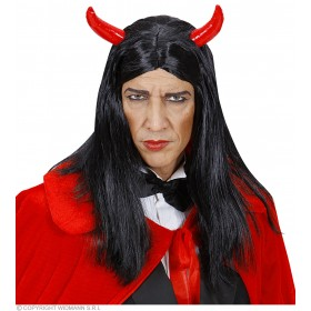 Mens Devil Wig In Box Black Wigs - (Black)