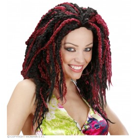 Rastafarian Wig - Black/Auburn - Fancy Dress