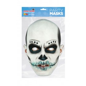 Day of the Dead Man White Mask