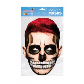 Day of the Dead Man Red Mask