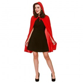 Short Red Cape with Hood Costume