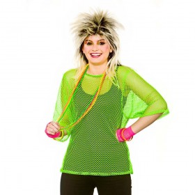 80's Mesh Top - Neon Green One Size Accessories (1980)