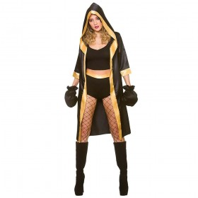 Knockout Boxer Fancy Dress Costume