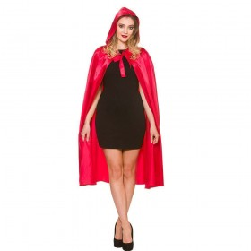 Deluxe Red Satin Hooded Cape - 110cm Accessories