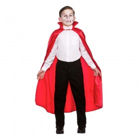 Deluxe Children's Satin Cape w/Collar - RED 95cm Accessories