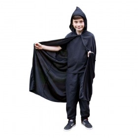 Childs Hooded Cape - BLACK Accessories