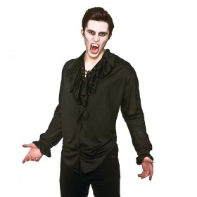 Pirate Shirt - Black Fancy Dress Costume