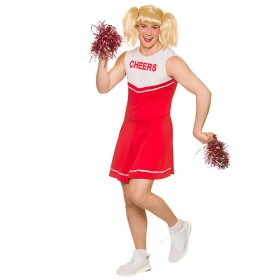 Hot Cheerleader Fancy Dress Costume