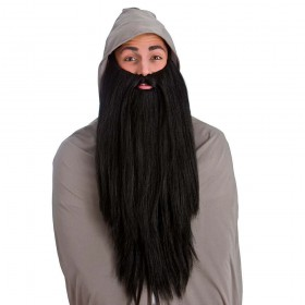 Deluxe Long Beard - Black Wigs