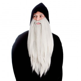 Deluxe Long Beard - Grey Wigs
