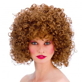 80's Disco Perm Wig - Brown Wigs (1980)