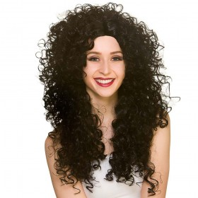 Long Curly Wig - Black Wigs