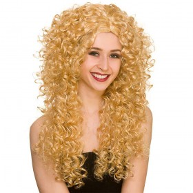 Long Curly Wig - Blonde Wigs