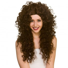Long Curly Wig - Brown Wigs