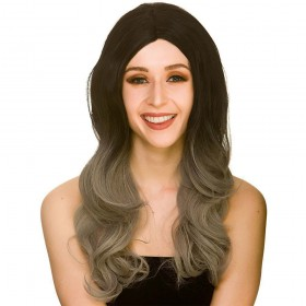 L.A Glamour Ombre Wig - Black/Grey Wigs