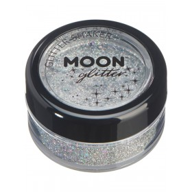 Moon Glitter Holographic Glitter Shakers Silver