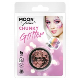 Moon Glitter Holographic Chunky Glitter Rose Gold
