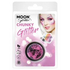 Moon Glitter Holographic Chunky Glitter Pink