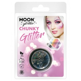 Moon Glitter Holographic Chunky Glitter Black