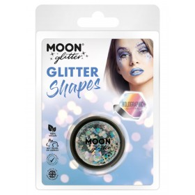 Moon Glitter Holographic Glitter Shapes Silver
