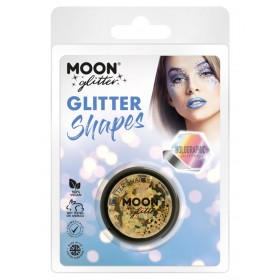 Moon Glitter Holographic Glitter Shapes Gold