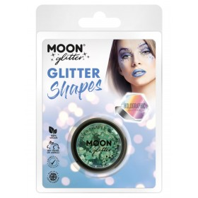 Moon Glitter Holographic Glitter Shapes Green