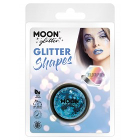 Moon Glitter Holographic Glitter Shapes Blue