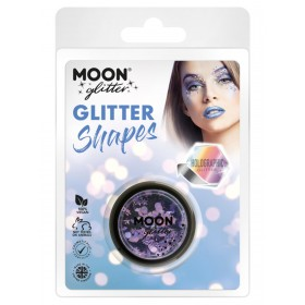 Moon Glitter Holographic Glitter Shapes Purple