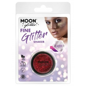 Moon Glitter Classic Fine Glitter Shakers Red