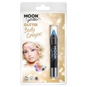 Moon Glitter Holographic Body Crayons Blue
