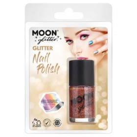 Moon Glitter Holographic Nail Polish Rose Gold