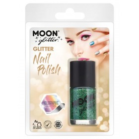 Moon Glitter Holographic Nail Polish Green