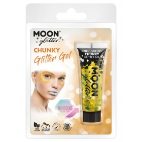 Moon Glitter Iridescent Chunky Glitter Gel Yellow