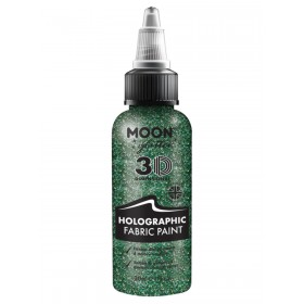 Moon Glitter Holographic Glitter Fabric Paint Green