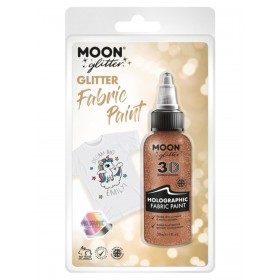 Moon Glitter Holographic Glitter Fabric Paint Rose