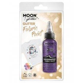 Moon Glitter Holographic Glitter Fabric Paint Purple