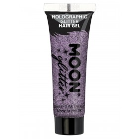 Moon Glitter Holographic Glitter Hair Gel Purple