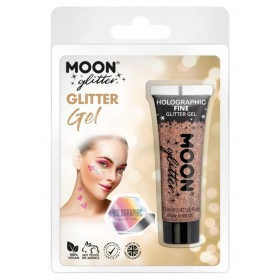 Moon Glitter Holographic Fine Glitter Gel Rose Gold