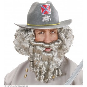 Character Curly Locks Wig & Beard - Grey - Fancy Dress