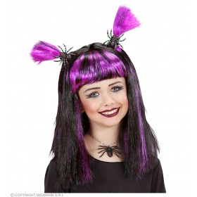 Child Halloween Wig & Spiders / Bats 4 Co, Fancy Dress(Halloween)